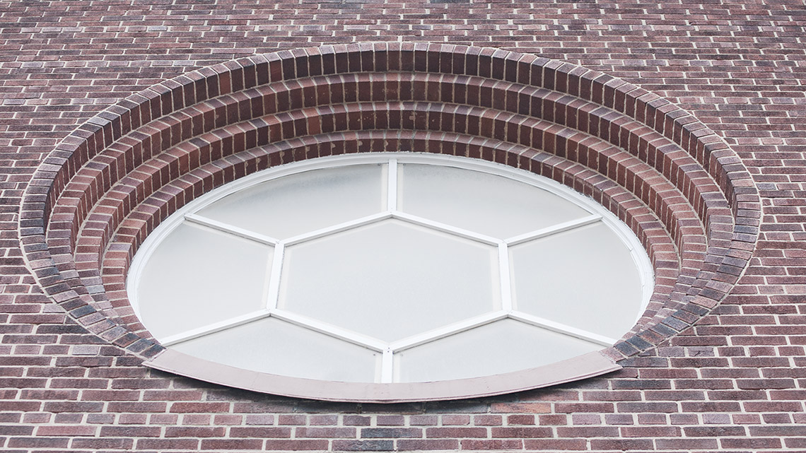 Photo of Rose window from exterior.