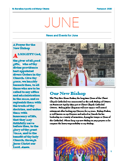 Cover of June newsletter