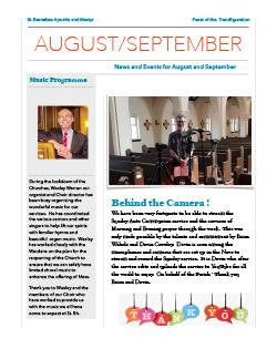 Cover image for August-September newsletter